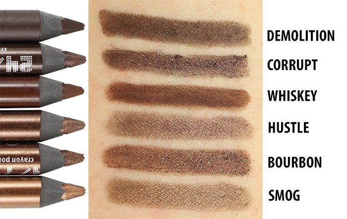 Urban Decay 24 7 Glide On Eye Pencils Review Swatches With