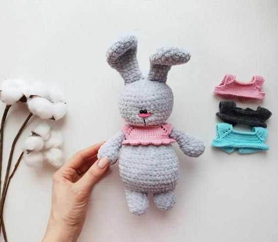 Amigurumi bunny, plush crochet rabbit, easter bunny plush, personalized crochet rabbit, knitted plush bunny, knitted toy, Baby gift #bunnyplush