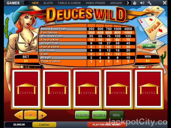 Great selection of 103 free Video Poker games