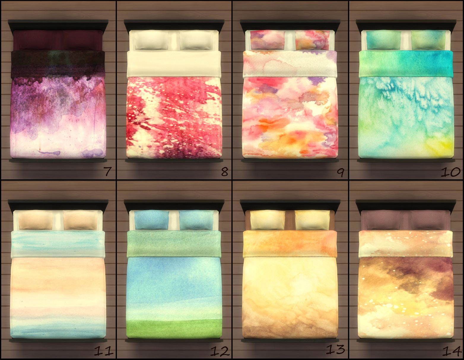 25 Watercolor Bedding Recolors Of The Mod Pod Sleeper In 2020