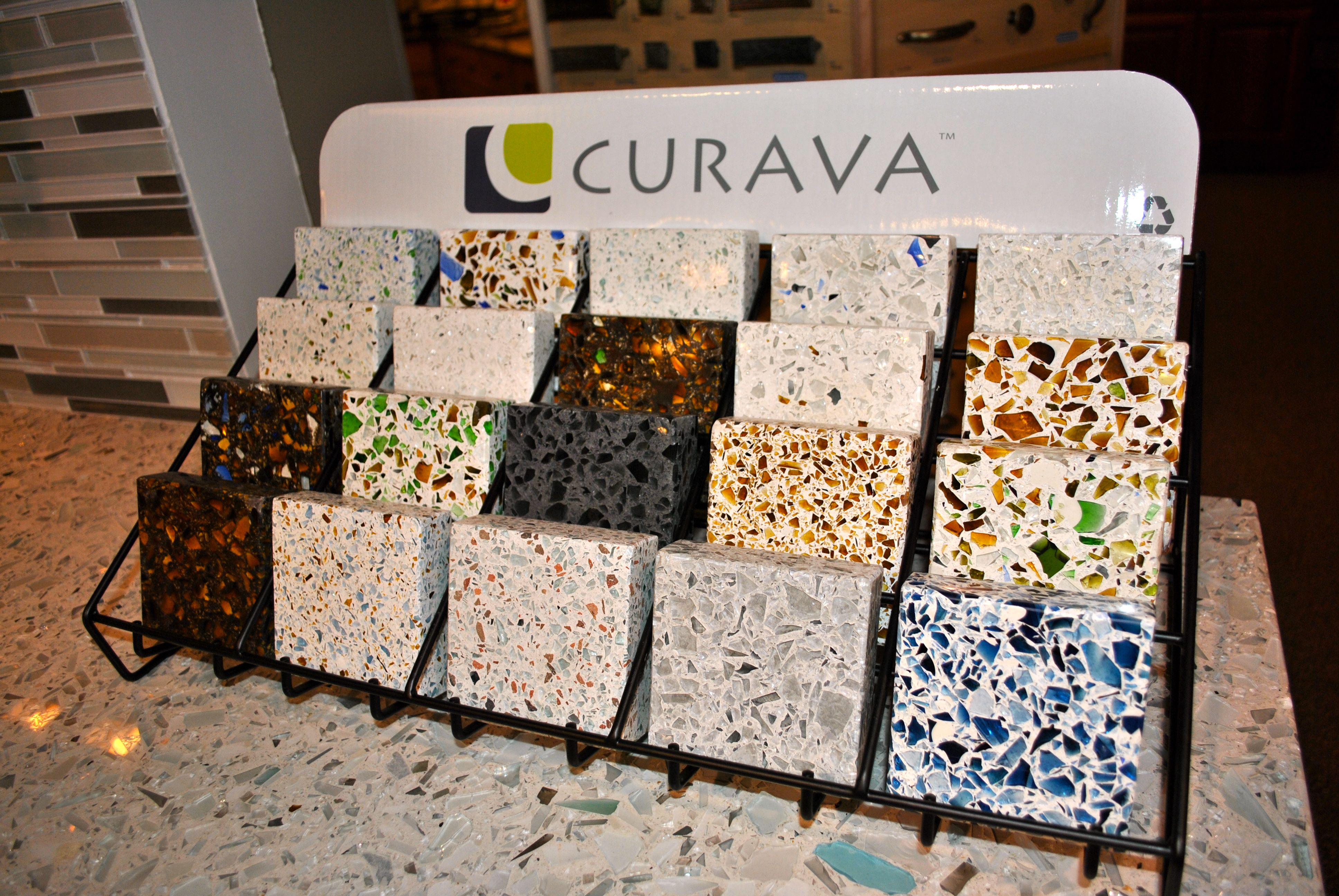 Black Recycled Glass Countertops Curava Counter Tops Rosewood Design Center In 2019