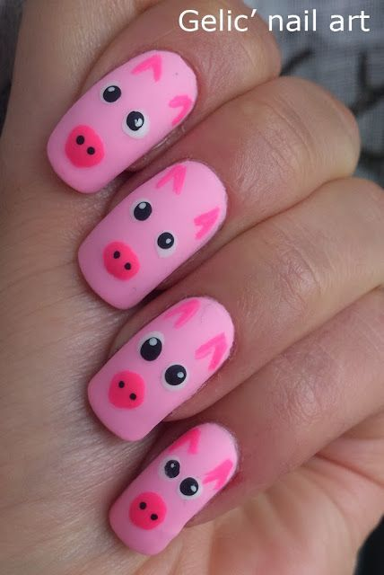 Explore Pig Nail Art, Pig Nails, and more! - Pin By Kenda Davis: 3-Peat On Miss Piggy's Pink Cottage Pinterest