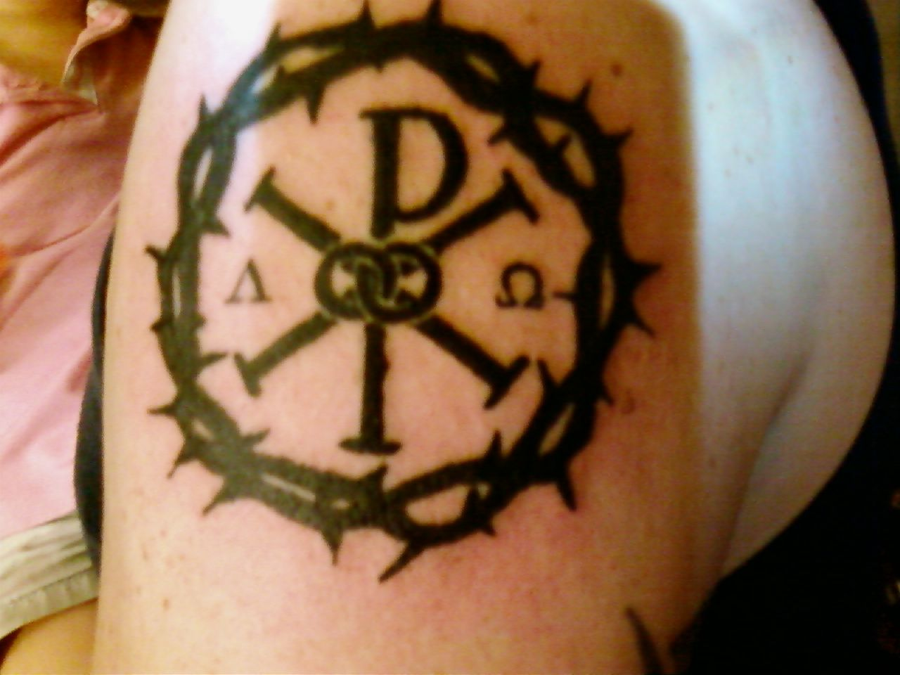 chi rho and crown of thorns body art ideas pinterest chi rho crown and tattoo. Black Bedroom Furniture Sets. Home Design Ideas