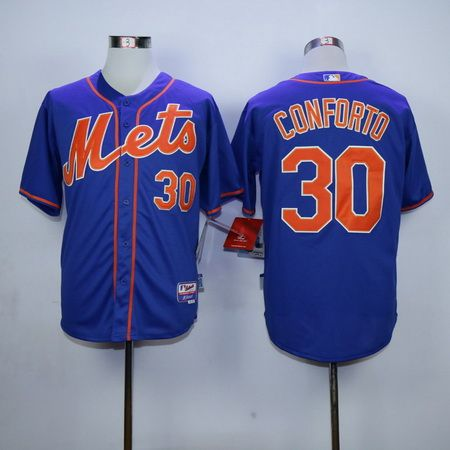low priced a671a ce031 New York Mets #30 Michael Conforto Blue With Orange Cool ...