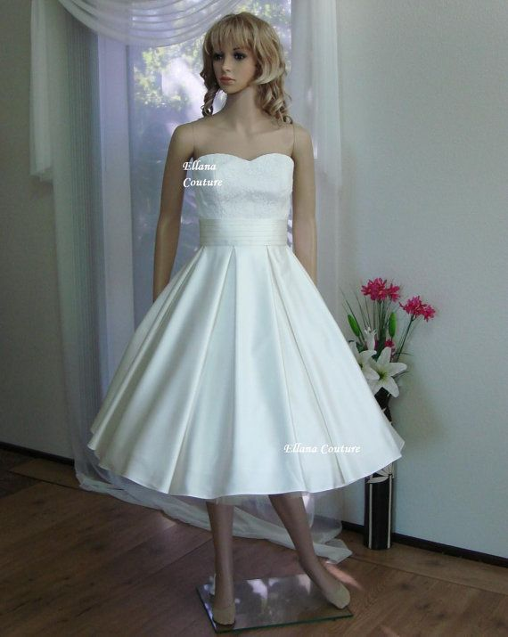 Aster - GORGEOUS Vintage Inspired Wedding Gown. Tea Length | Aster ...