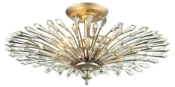 Viva 3 light semi flush silver illuminating options one kings lane