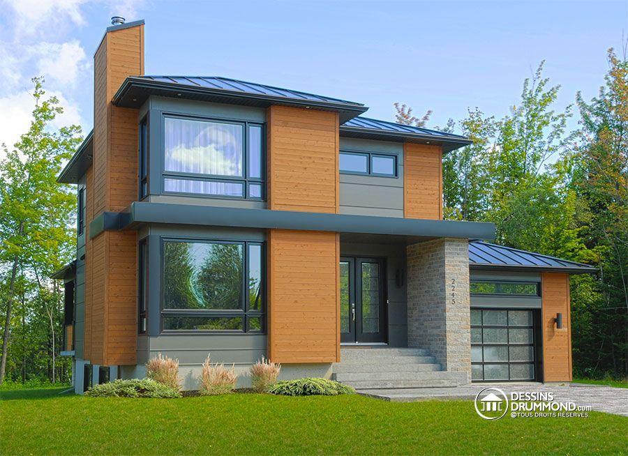 Détail du plan de Maison unifamiliale W3713-V1 Maison moderne