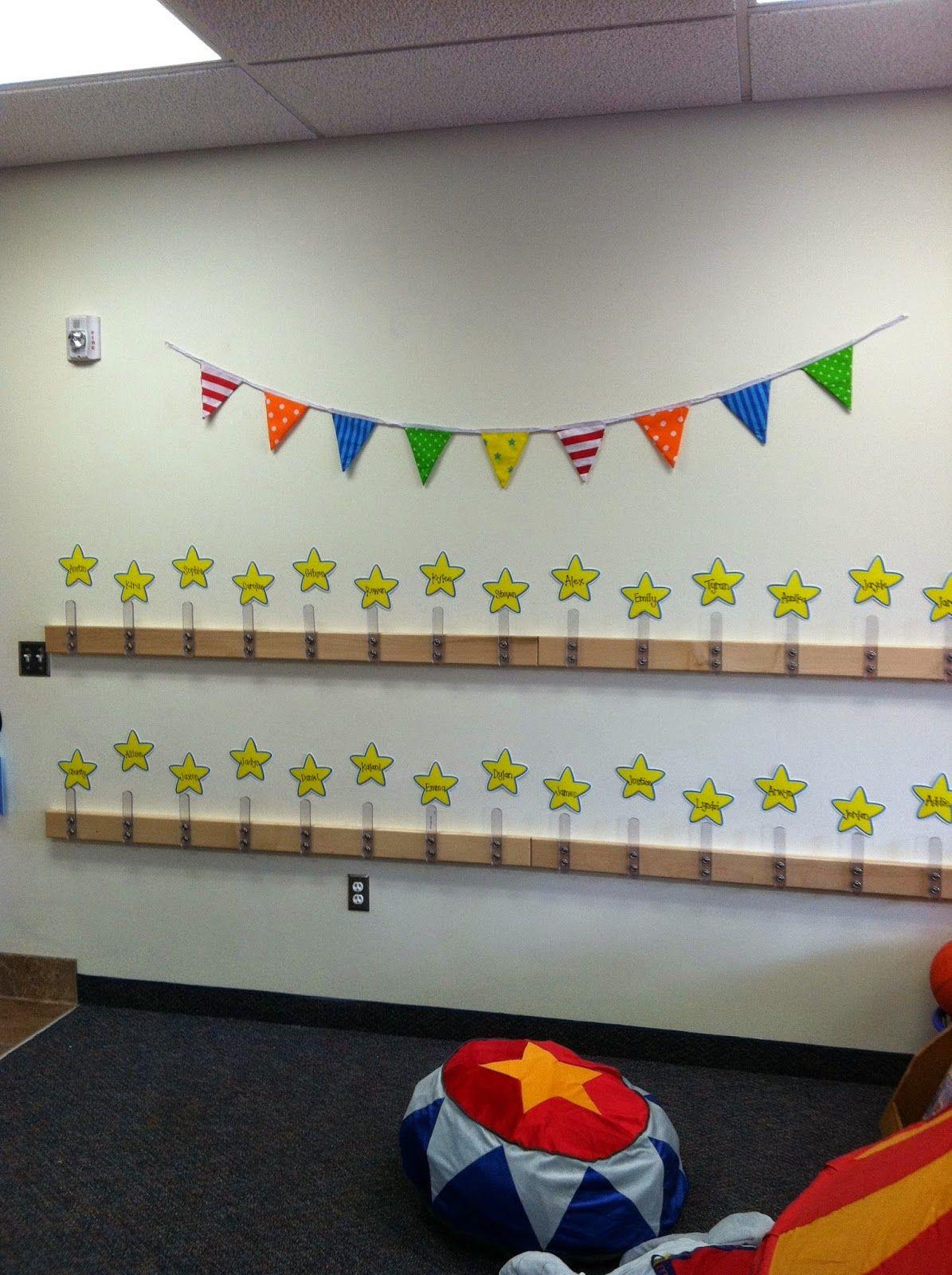 Classroom Hook Ideas ~ Circus classroom backpack hooks teach pinterest