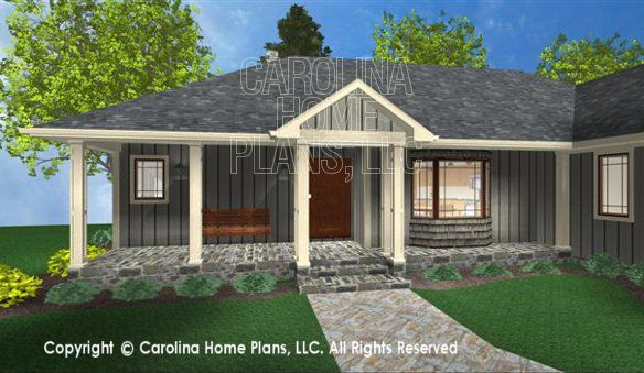 ranch with front porch house plans | house plan