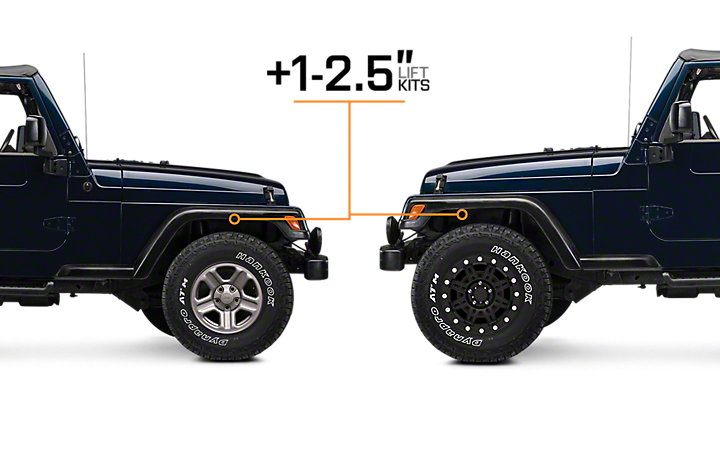 Jeep Wrangler Lift Kits >> 1 2 5 Lift Kits Jeep Jeep Wrangler Lift Kits Jeep Tj
