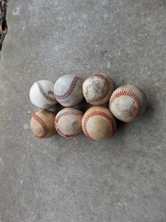 Vintage Baseball Collection Rustic Modern Game Room By Misshettie 1600