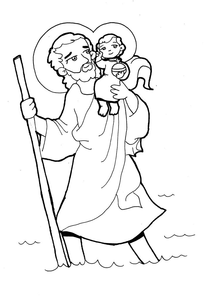 SAN CRISTÓBAL para pintar. | Santos II