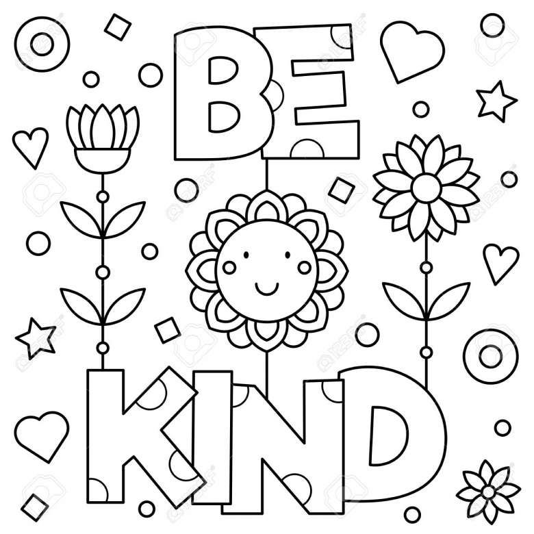 10 Be Kind Coloring Page In 2020 Free Printable Coloring Pages Preschool Coloring Pages Coloring Pages Inspirational