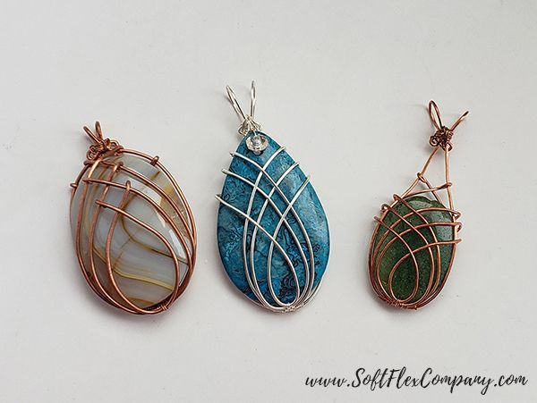 Photo of Crisscross Wire Wrap Weave On A Cabochon