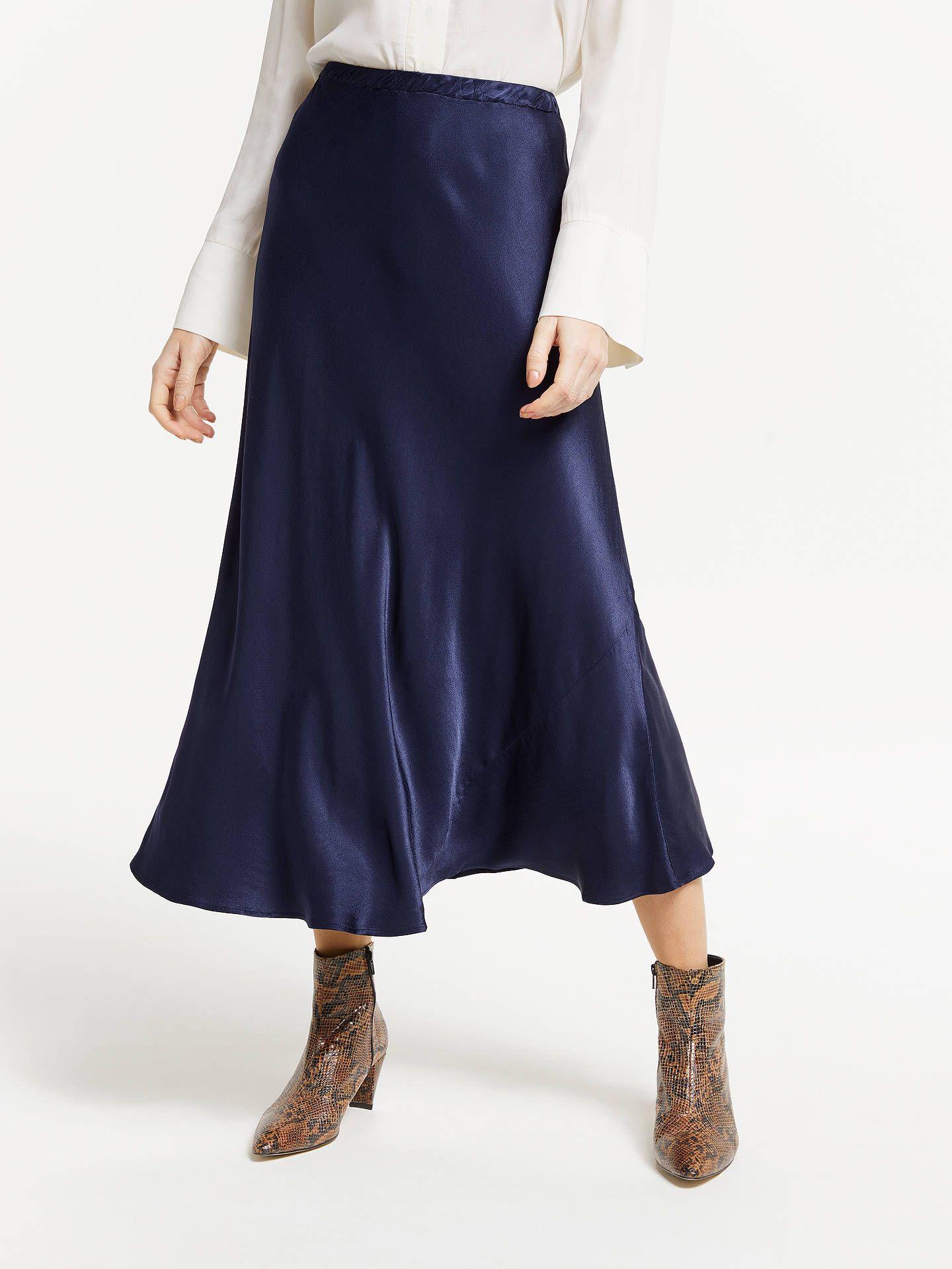 63c107cf0a Finery Alberte Satin Skirt, Black in 2019 | SS19 | Satin skirt ...