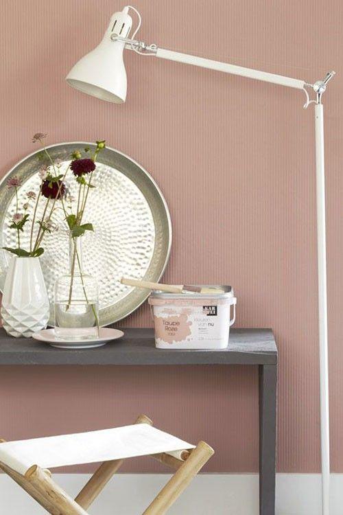 Oud roze muur  Flow Design  Slaapkamer  Roze muren