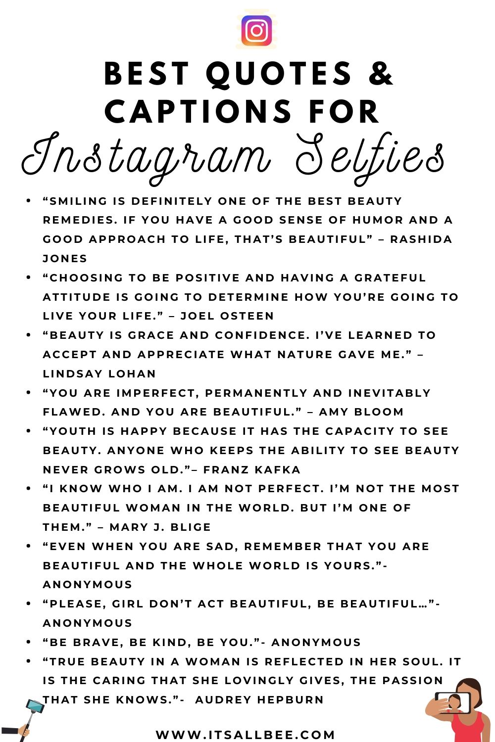 41 Quotes & Captions For Instagram Selfies | ItsAllBee ...