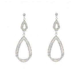 Make a statement in these stunning large teardrop diamante stud earrings.