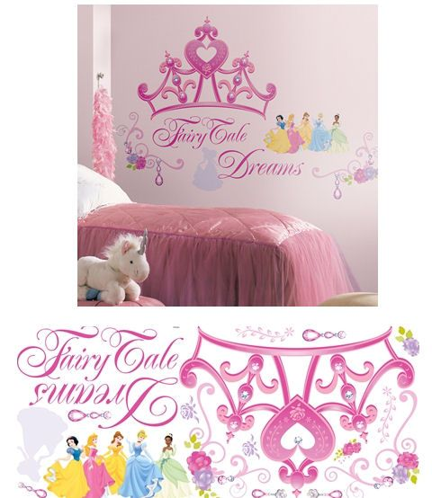 Disney Princess Crown Giant Wall Decals   Wall Sticker Outlet
