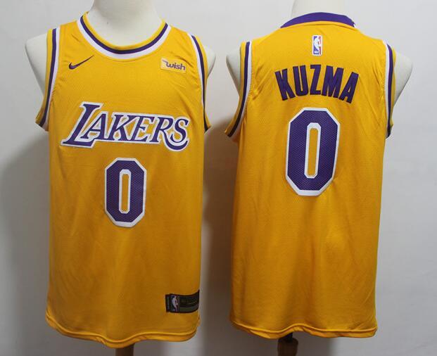 super popular 4e2f6 55623 Men's Los Angeles Lakers #0 Kyle Kuzma 2019 Yellow Nike ...