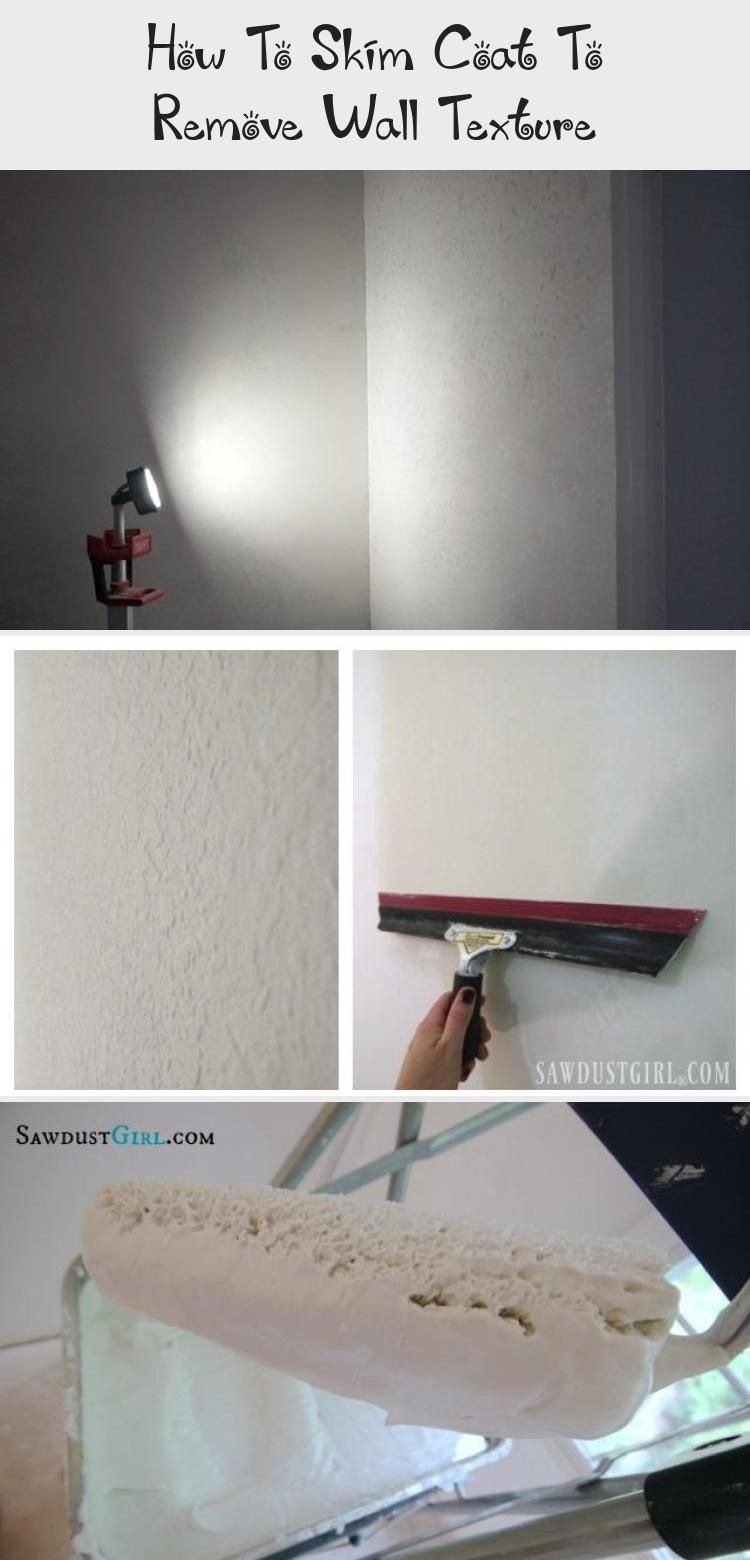 How to skim coat to remove wall texture diy home