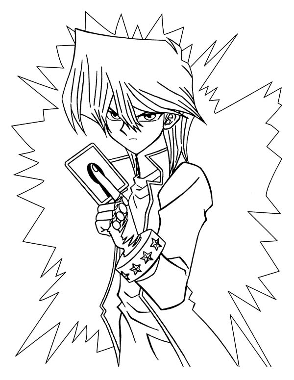 Seto Kaiba Is Angry In Yu Gi Oh Coloring Page Netart Coloring Pages Coloring Books Coloring Pictures