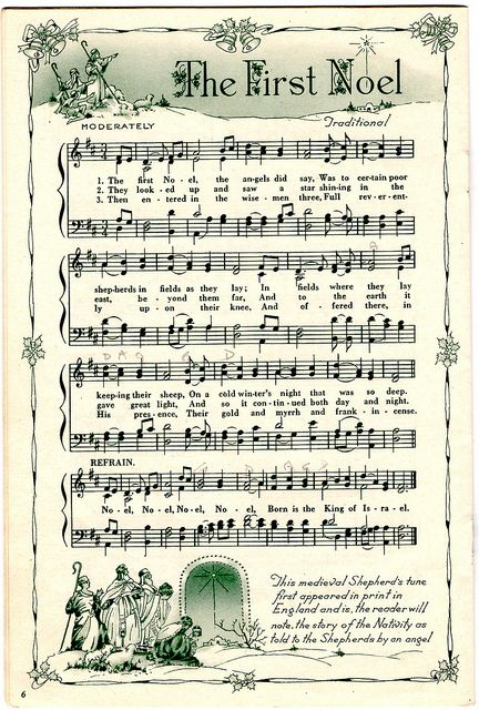 photo about Christmas Caroling Songbook Printable called 1st Noel ♥ Sheet Audio Printables ♥ Xmas sheet