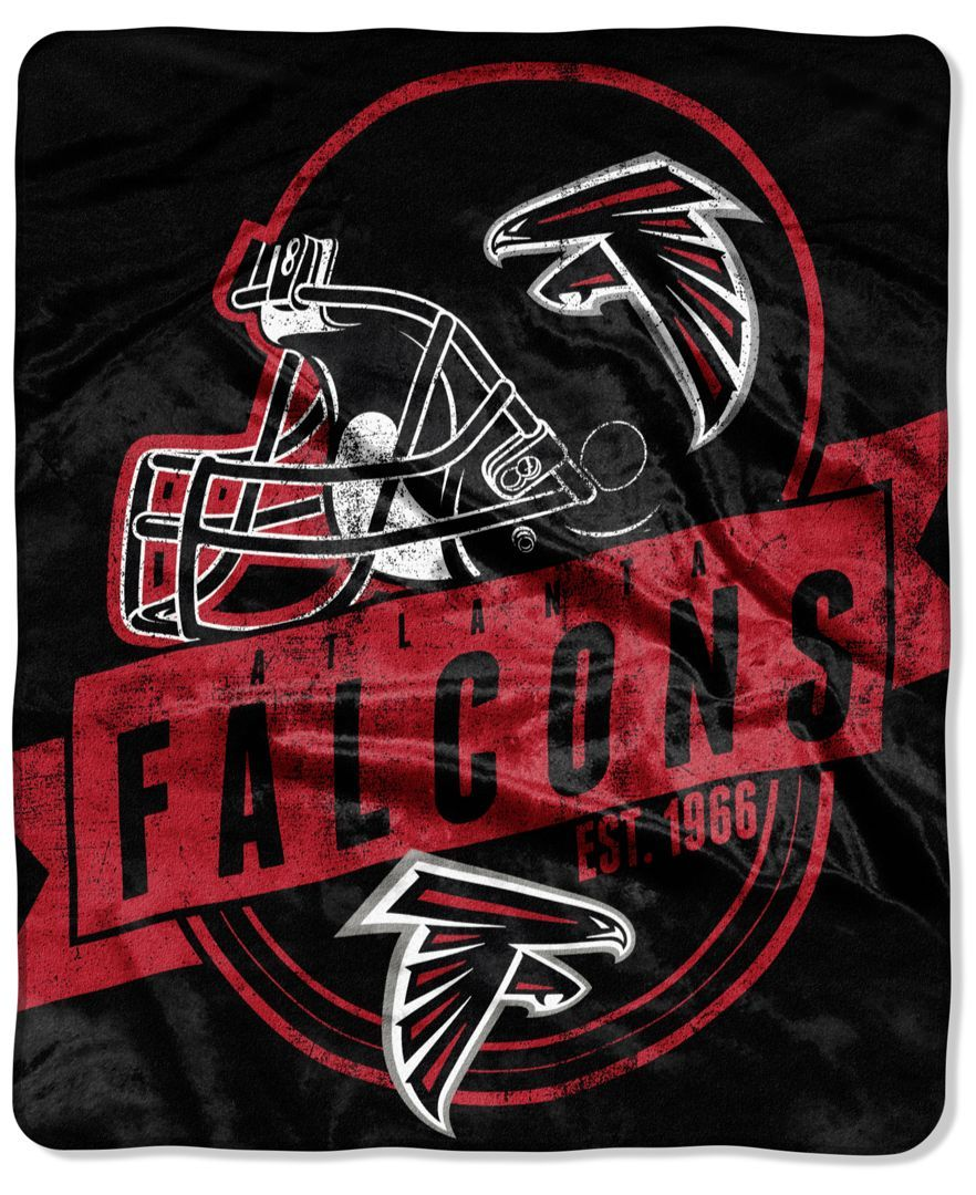 Northwest Company Atlanta Falcons Grand Stand Plush Throw Blanket Blankets Throws Bed Bath Atlanta Falcons Vintage Atlanta Falcons Atlanta Falcons Gear