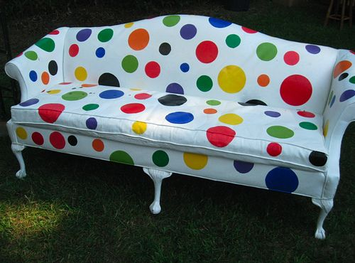 Polka Dot Sofa Dots Stripes