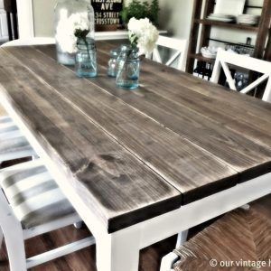 Refurbished Wood Dining Room Tables Farmhouse Style