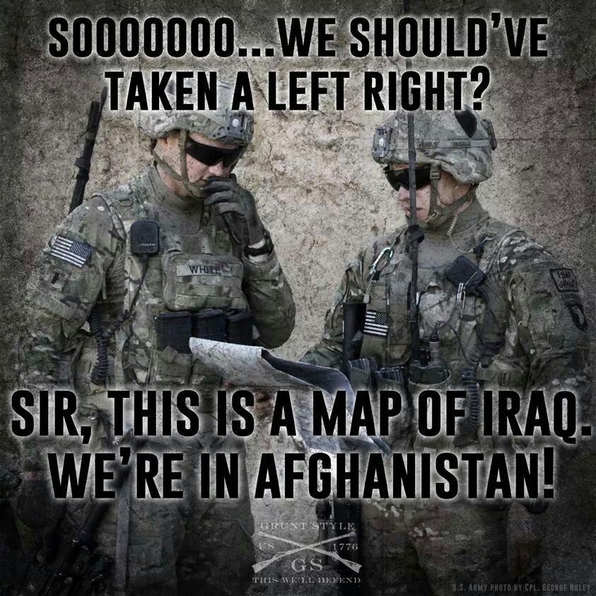 Facebook/grunt style Military jokes, Military humor