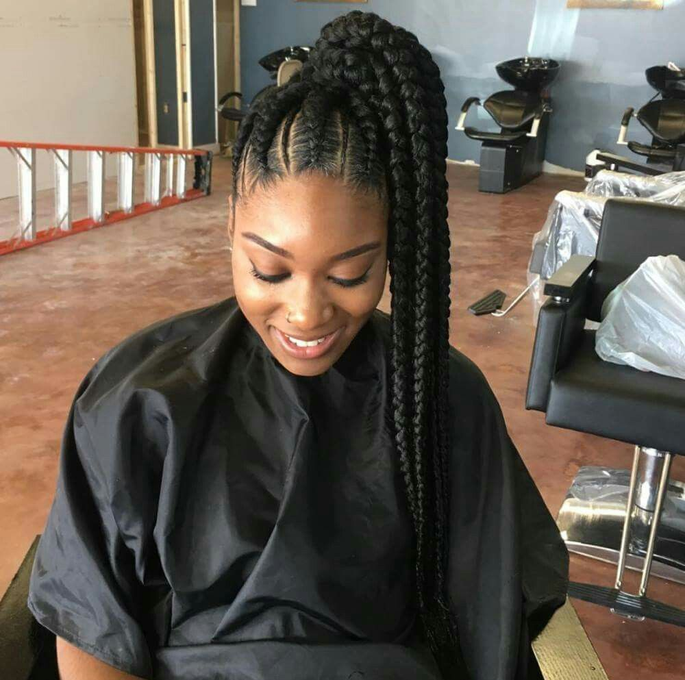Side Braided Ponytail Hair It Is Pinterest Side
