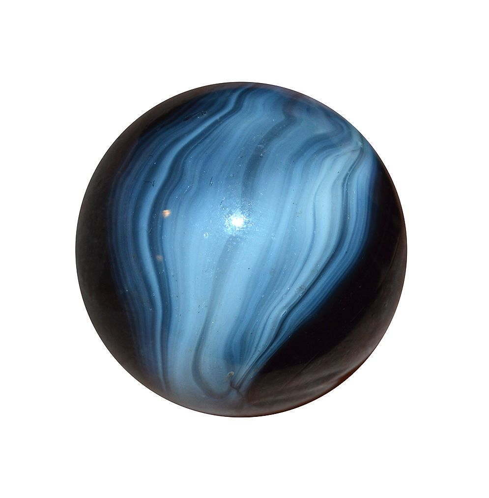 19mm marble; handmade glass marble; blue and white marble; unique glass marble