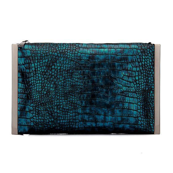 This Snake Effect Clutch is perfect with a floral print dress similar to what Jessica Alba wore to the Mechanic: Resurrection premiere this week in Hollywood.