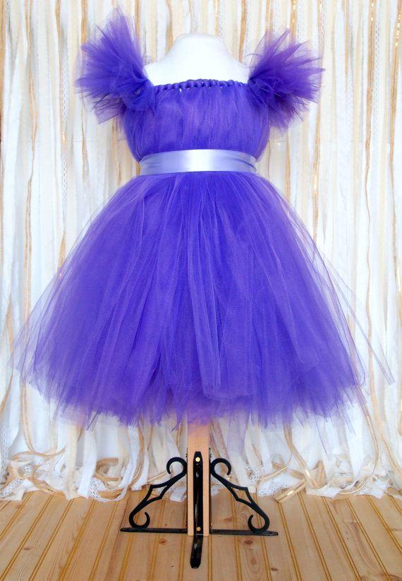 Custom Girl Tulle Princess Dress With Sleeves by TeacherHomemade, $60.00