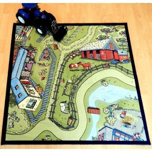 Zoomie Kids Kaila Farm Life Mat Carpet Bowls Dinosaur Play Outdoor Floor Mats
