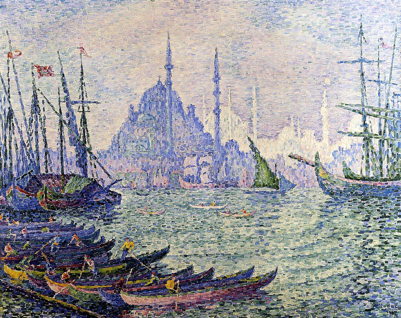 La Corne d\'or. Les Minarets, 1907, Paul Signac   I LOVE ART MORE ...
