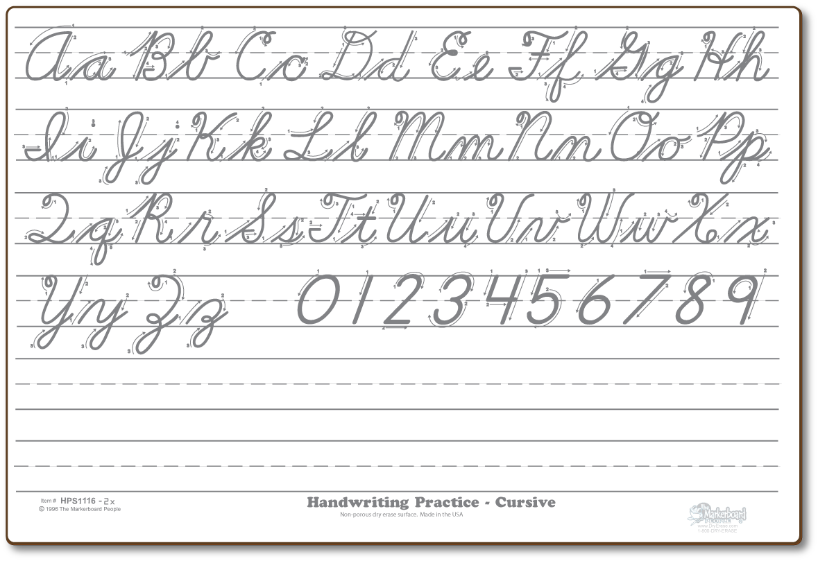 Cursive Practice Notice The Diagram Instructions On How