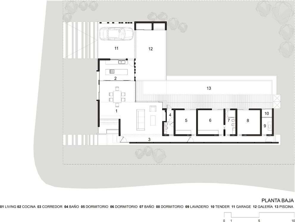 Proyecto vivienda unifamiliar en - Distribucion casa alargada ...
