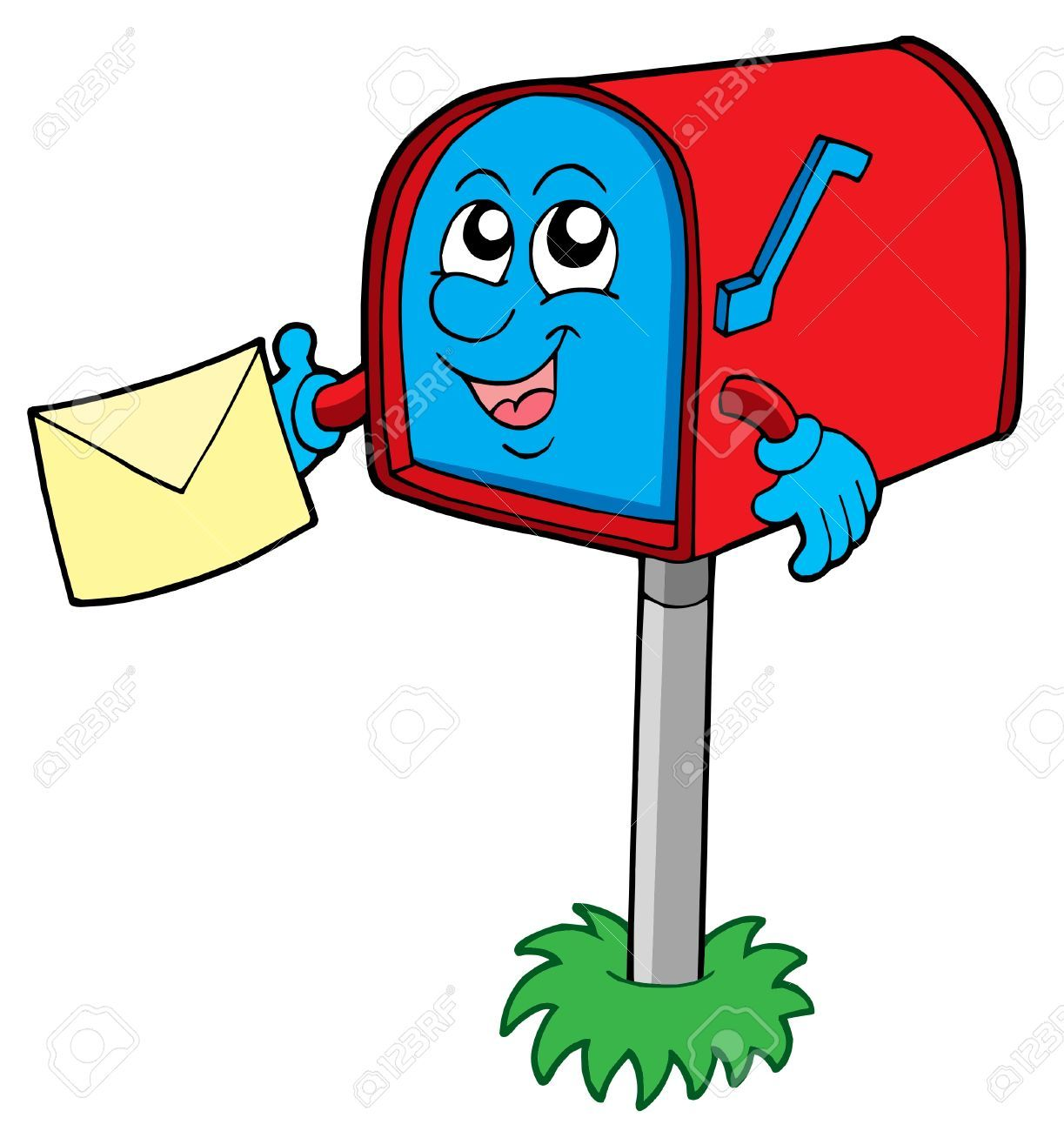 Mail box with letter vector illustration. Letter