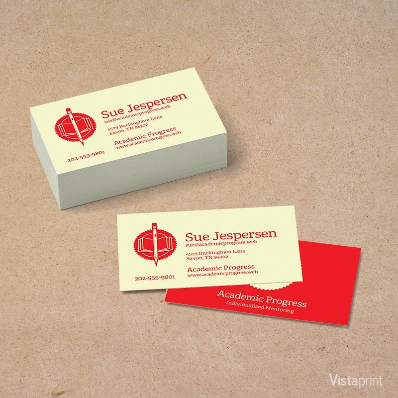 Custom Teacher Business Cards | Vistaprint | Back To School ...