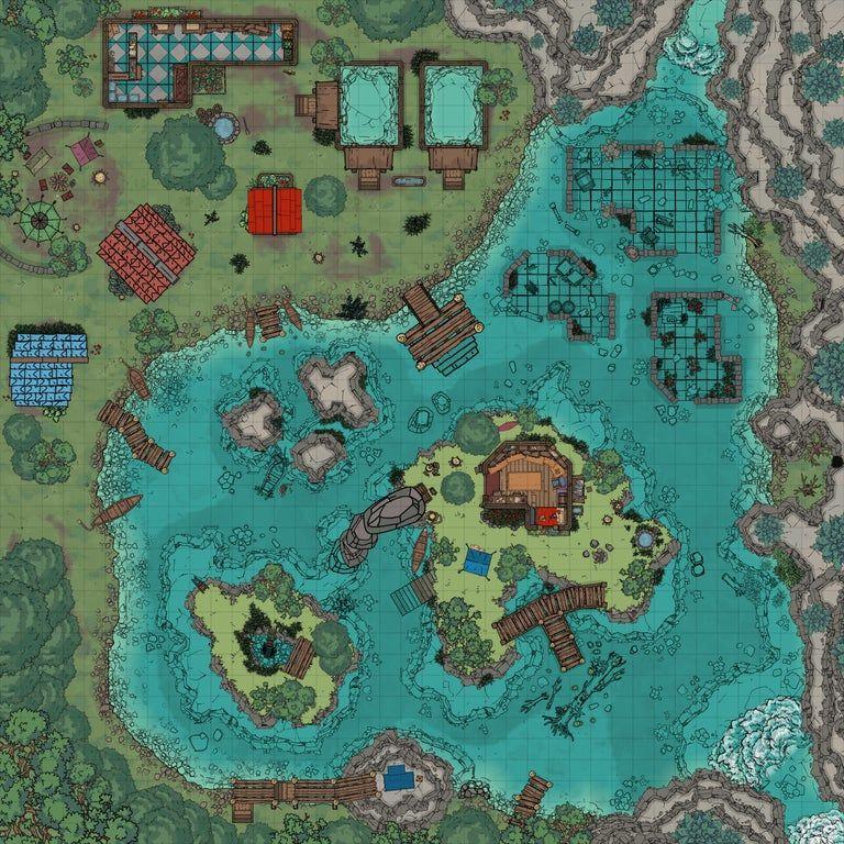Lake koranto 40x40 battlemaps wargaming terrain