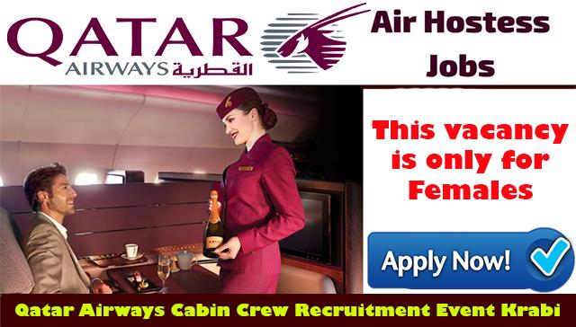 Cabin Crew Recruitment For Qatar Airways Event Krabi