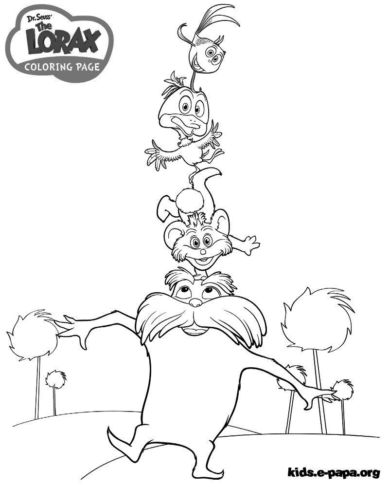 elegant photo of the lorax coloring pages