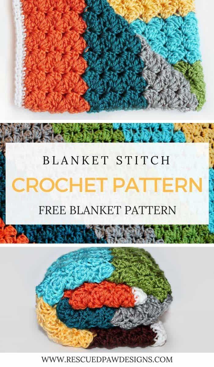 Blanket Stitch Crochet Pattern - Free Crochet Pattern | Tejido