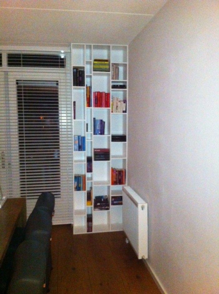 Een strakke boekenkast, zelf gemaakt van MDF. - creatief | Pinterest ...