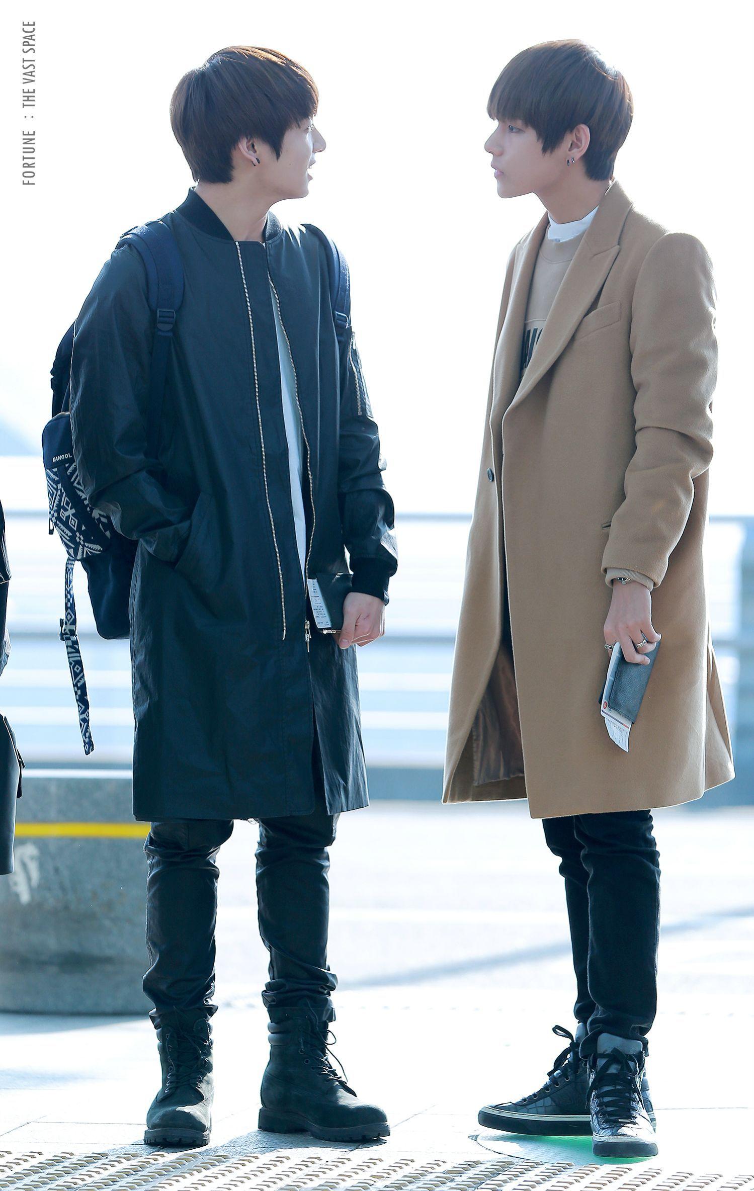 BTS FASHION] Jungkook & Taehyung ( their coats are soooo