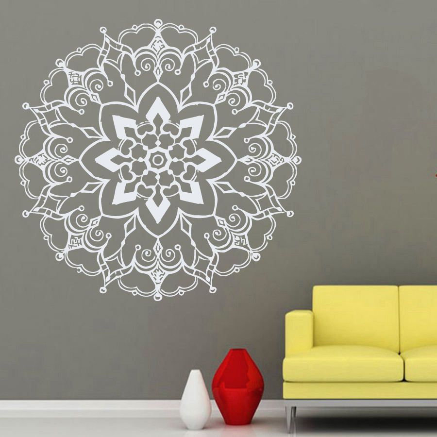 mandala na parede pesquisa google mandalas pinterest wall decals mandala yoga namaste indian geometric moroccan pattern decal vinyl sticker decal art home decor art mural bedroom dear buyers welcome