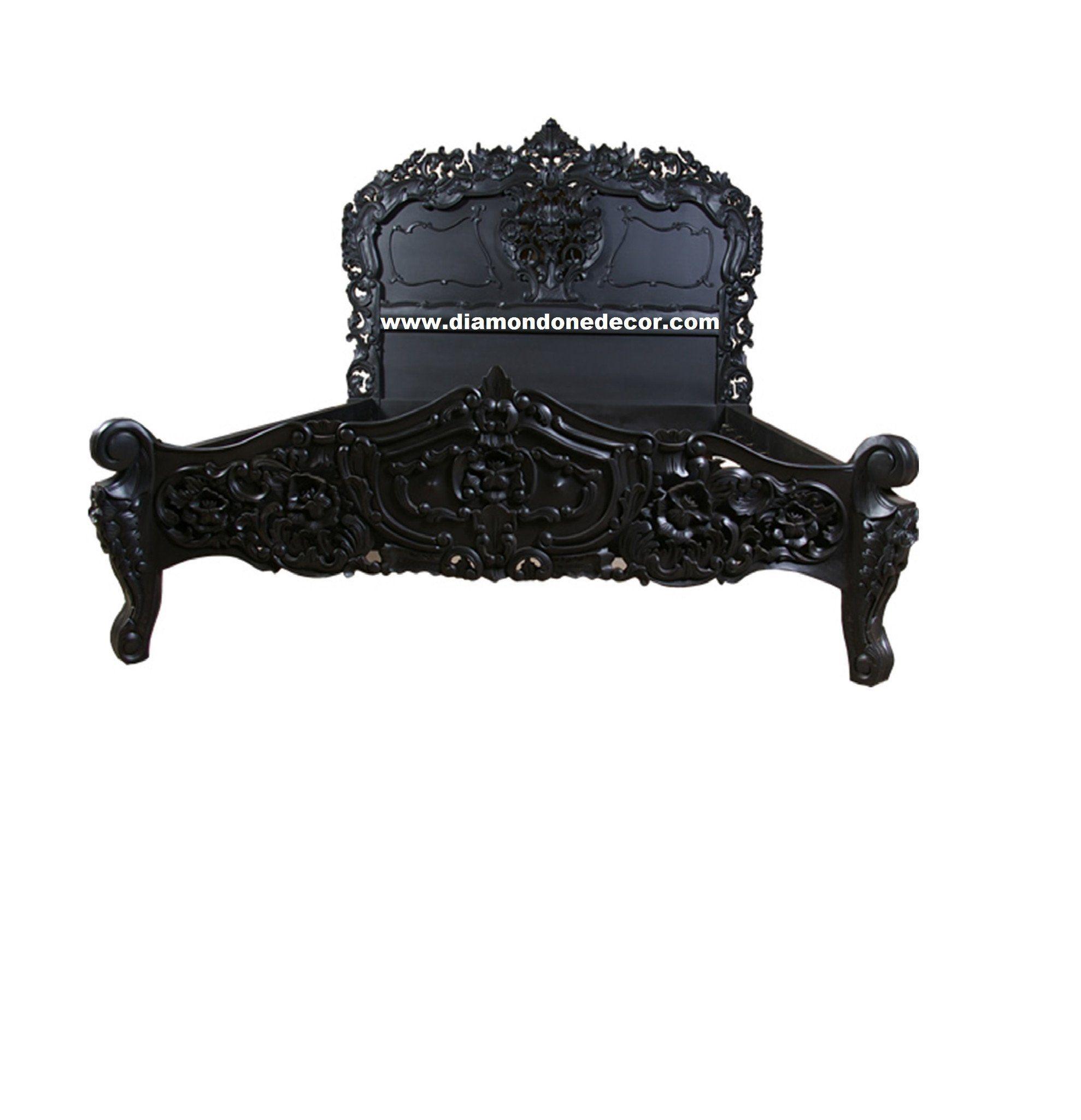 Dreamy Rococo Black French Reproduction Baroque Louis XVI