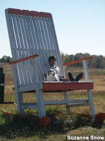 Beautiful Lula, GA   Oversized Rocking Chair In A Field. North Of Atlanta